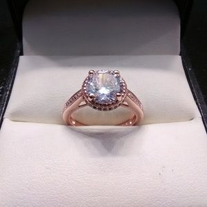 3.50ctw Simulated AAA White Diamonds 14K Rose/925